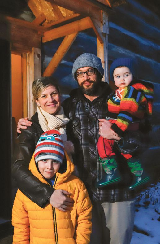 The McHugh family: Peter, 7, Viktoria, Jay, and Elizabeth, 1. PHOTO BY THE CANADIAN PRESS IMAGES/PATRICK DOYLE