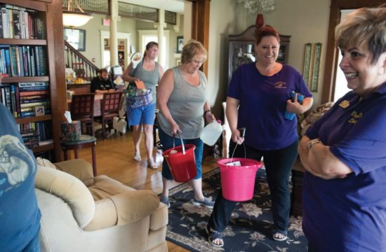 Lioness clubs have long been workhorses of the Lion family. Here the Van Dyne and Fond Du Lac Lionesses help maintain a home for transplant patients and their families.