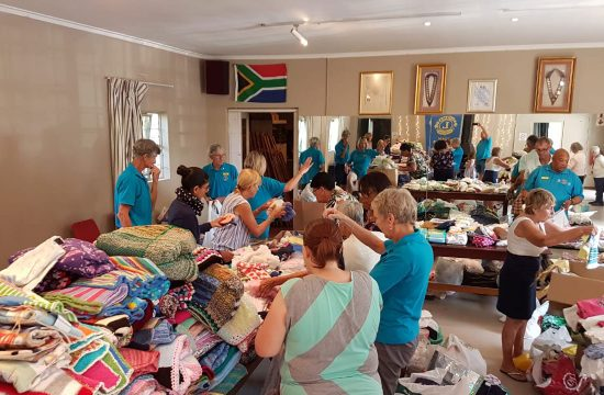 Lions sort clothes for baby clothing project.
