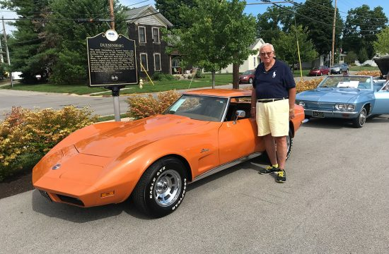 PIP Wayne Madden with one of his prized cars.