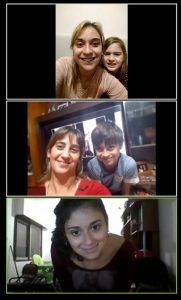 Children and parents on zoom call