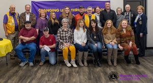 Lions Club Members pose for picture