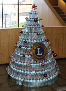 Stack of waters with Lions Clubs International Logo