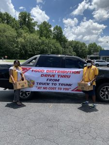 Lions clubs donating food