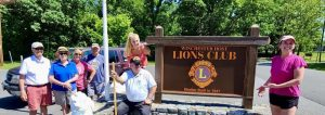 Lions Clubs Show off a new sign