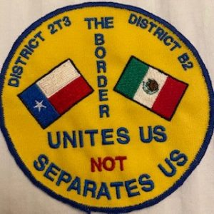 patch that says the border unites us, not separates us